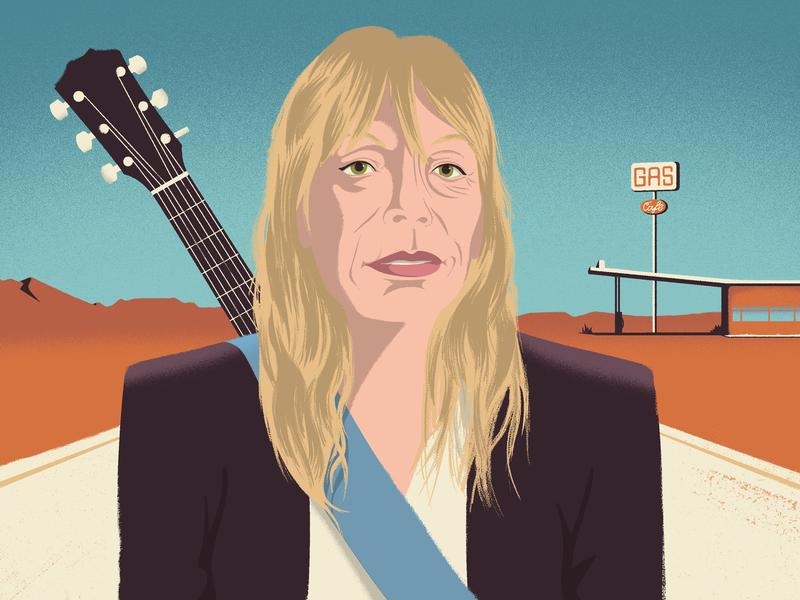 Rickie Lee Jones ( Illustration by Golden Cosmos )