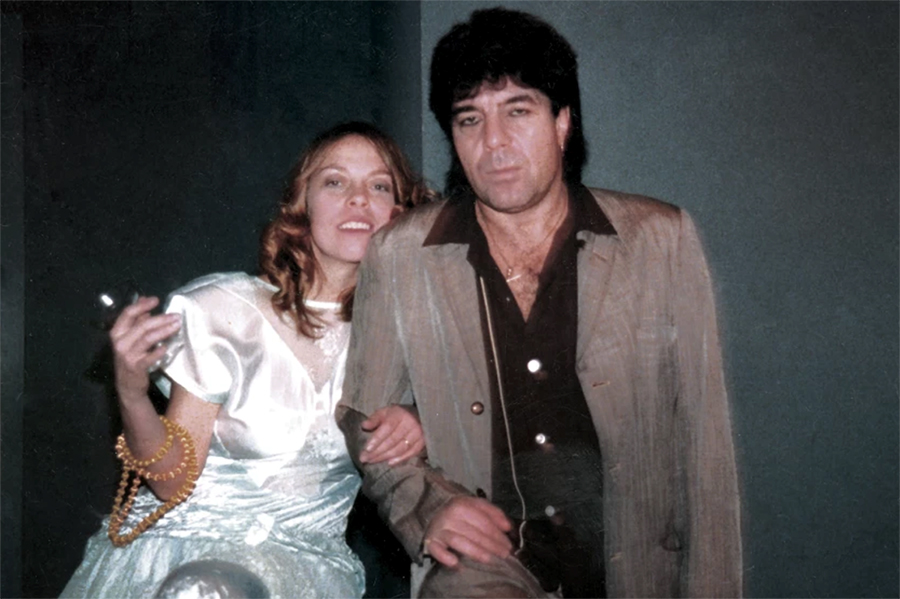 Rickie Lee Jones and Chuck E. Weiss on New Year's Eve, 1985.
